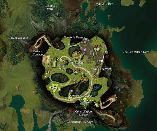 激战2圣林之地二层地图