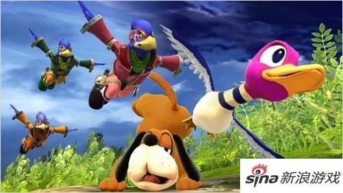 《任天堂大乱斗WiiU》打鸭子华丽登场