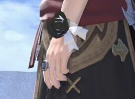 男角色带上玫瑰别样美 FF14盛花腕带妖气搭配