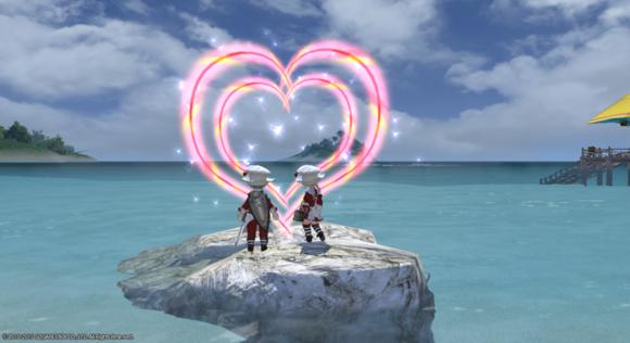 心情杂文:和男友一起玩FF14 每天都是情人节