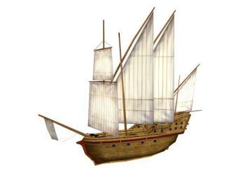帆船的结构显示图