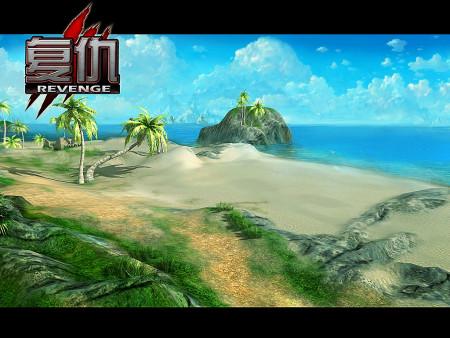 阳光,沙滩,海浪和椰子树构成了一个人间天堂,欲望海滩处于面具和帝国2