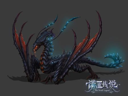 中国远古神兽黑龙_