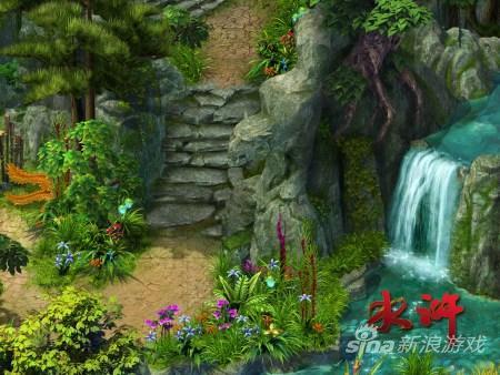 麒麟游戏新作《水浒》石阶流水
