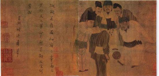 《宋太祖蹴鞠图》现藏于上海博物馆