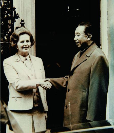 华国锋与英国首相撒切尔夫人。