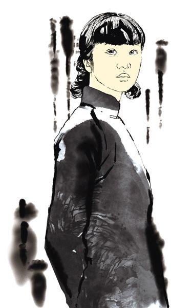 民国女插画手绘