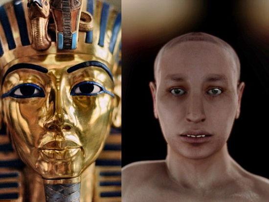 埃及法老王图坦卡蒙真容曝光 龅牙足畸形 历史频道 新浪网