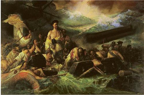 甲午海战(油画)
