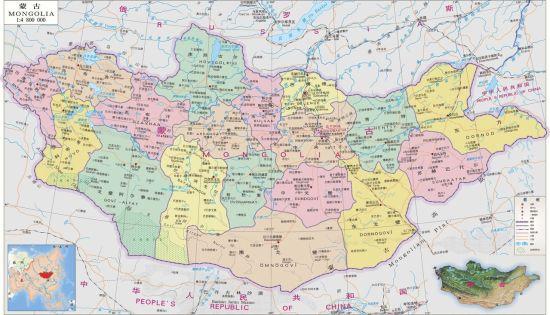 蒙古国地图