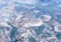 航拍辽东湾海冰 营口港海冰覆盖率超9成