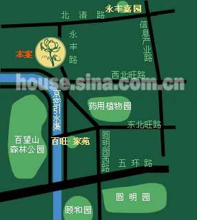 百旺茉莉园 交通图 位置图