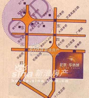 北京华侨城 交通图