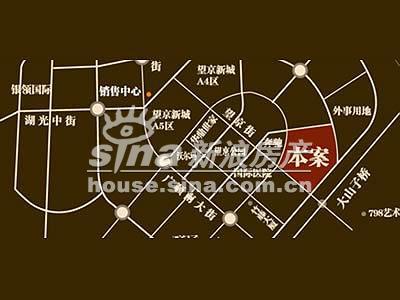 国风北京 交通图 交通位置示意图