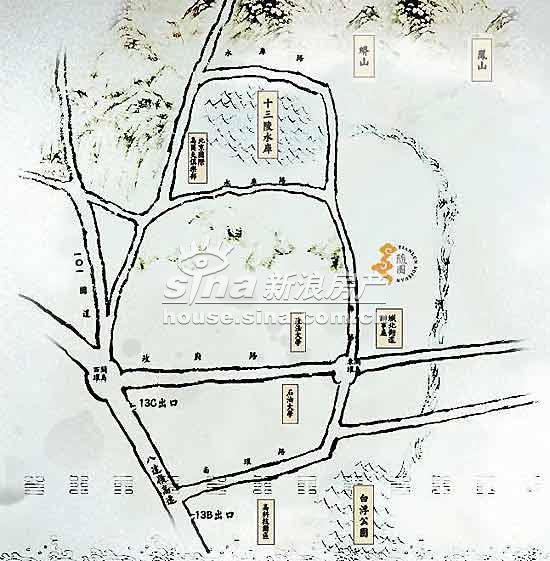 天伦随园 交通图