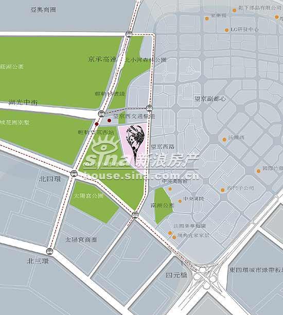 北京香颂 交通图