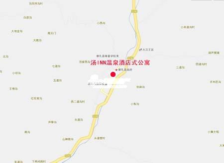 图为汤INN温泉酒店式公寓位置图