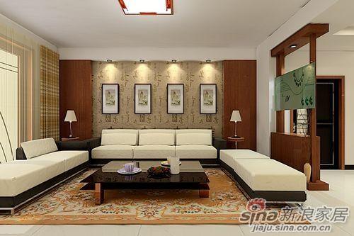 新中式客厅装修  【简欧式客厅装修图片】_装修效果图案例_2017年装修