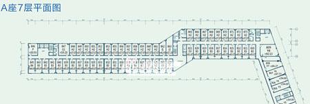 图为东亚上北鑫座项目A座7层平面图