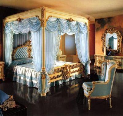 寂静荼蘼的欧式风格卧室