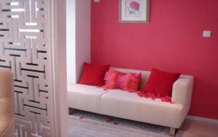 专为情侣设计的粉红婚房