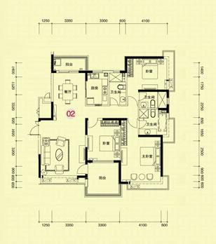 三室两厅两卫设计图展示
