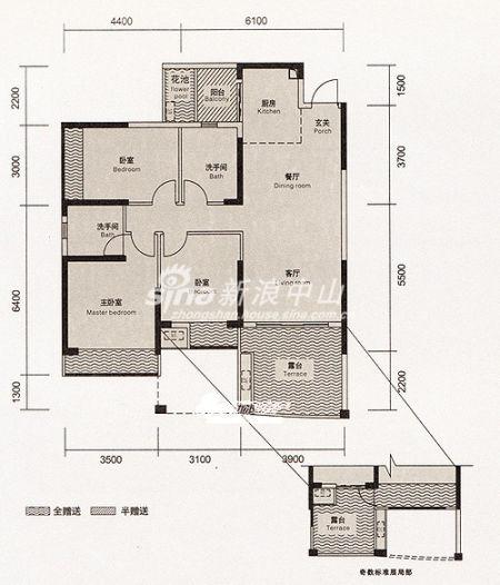 品房100平方设计图-即将绝版 寻找城区实用率最高的户型 豪逸御华庭
