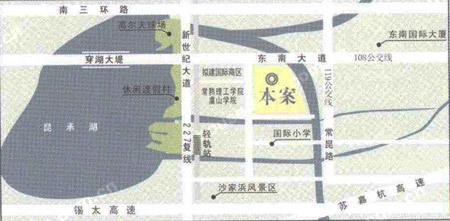 东湖京华位于东南大道与湖山路交汇处,南靠常熟理工学院东南校区.
