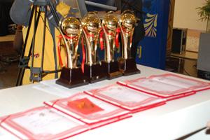 奖杯奖状还有过年的红包