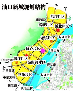 南京浦口新城规划图片大全 万科再度进军江北 浦口新城品