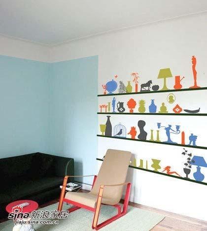 手绘墙纸 创意家居装饰显现自我个性