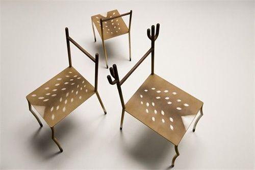 创意家居设计 小鹿造型座椅_新浪家居