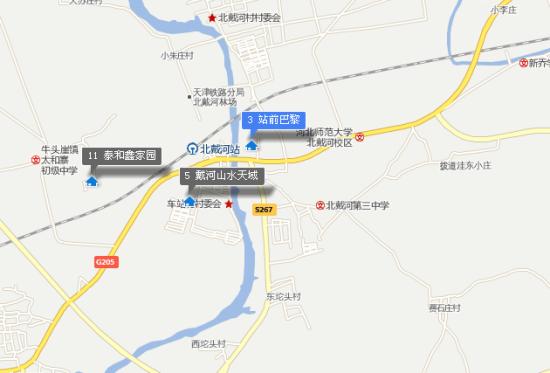 秦皇岛 北戴河地图