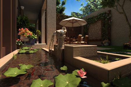 洋房私家花园欧式设计效果图