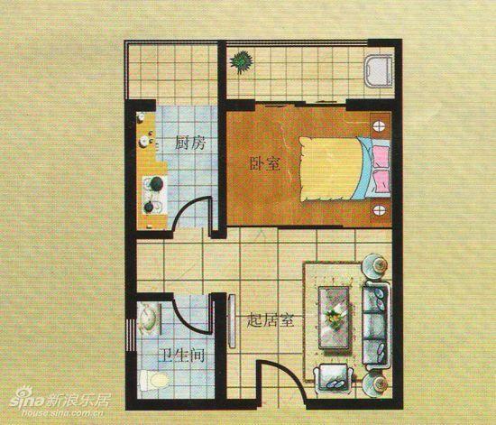 50平米廉租房户型图