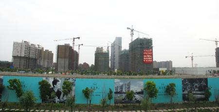 嘉定新城11号线出站远眺实景