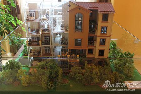 图为阳光首院洋房户型模型