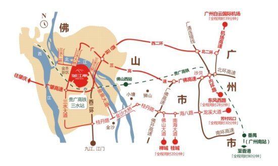 广东省佛山三水地图
