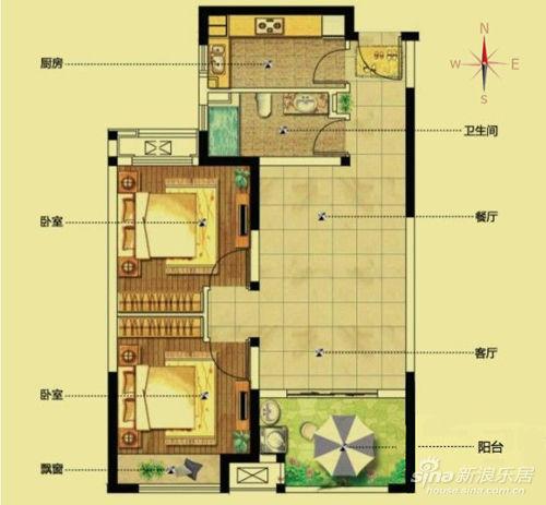 该楼栋两梯四户,共计280余套房子,房源面积为81-89平米,其中81平米