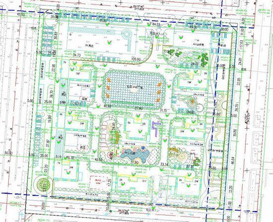 城市规划沙盘平面图