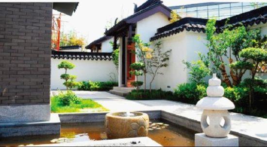 宝安江南城别墅院子