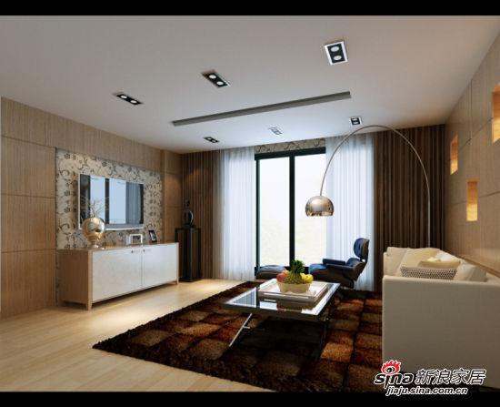 星艺装饰客厅效果图; 客厅装修效果图-五居室-230.