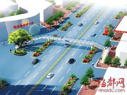仙游县首座人行天桥效果图-仙游首座人行天桥 预计将于6月底竣工并投