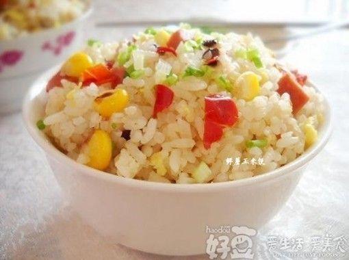 鲜蘑玉米饭