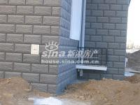 桃花岛 实景图 外墙贴砖和空调位
