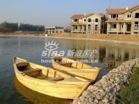 琉璃湖别墅 实景图 小船