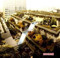华尔街观典 实景图 园林效果图