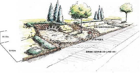 长河玉墅 实景图 手绘图
