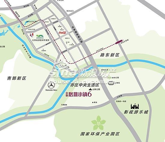 金地・格林小镇6 交通图 交通位置图