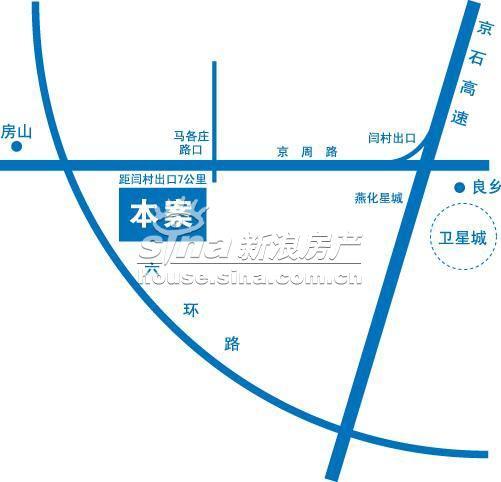 观景溪缘 交通图 地图